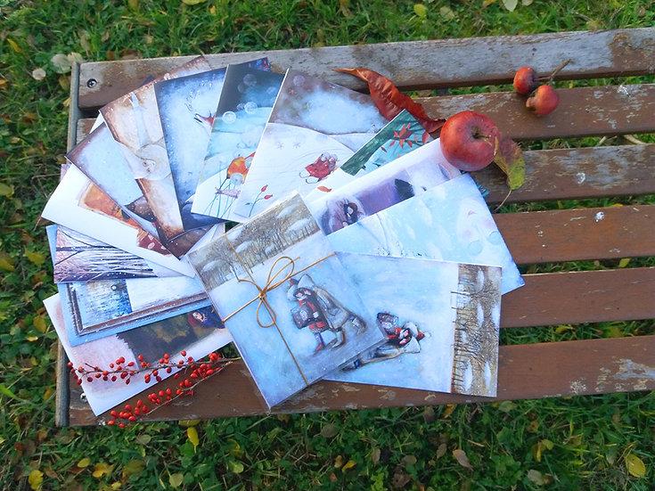 Téli képeslap csomag