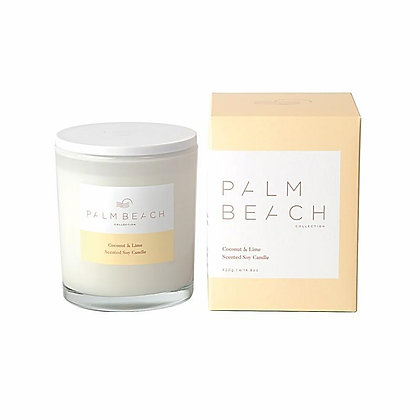 PALM BEACH COLLECTION - SCENTED SOY CANDLE 420G - COCONUT & LIME