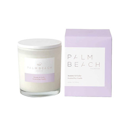 PALM BEACH COLLECTION - SCENTED SOY CANDLE 420G - JASMINE & CEDAR