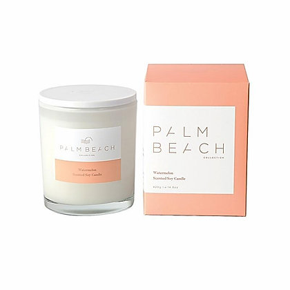 PALM BEACH COLLECTION - SCENTED SOY CANDLE 420G - WATERMELON
