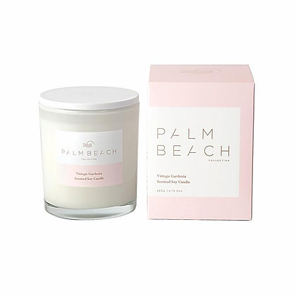 PALM BEACH COLLECTION - SCENTED SOY CANDLE 420G - VINTAGE GARDENIA