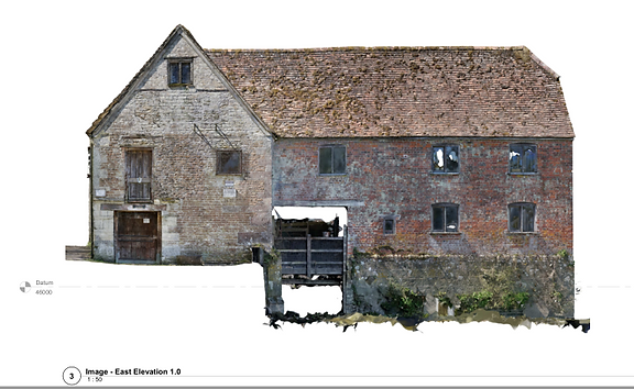 Survey Dimensions, Mill, Dorset, Isometric, Elevation Examp 1.PNG