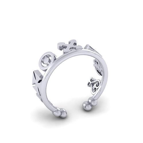Sahmani 925 Sterling Silver Open Charm Ring