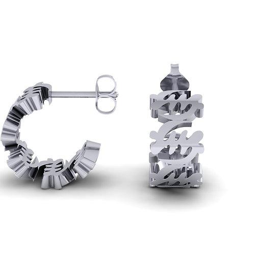 Fearless Sterling Silver Mini Hoop Earrings