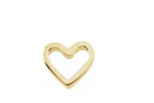 Micro 18k Gold Heart Charm