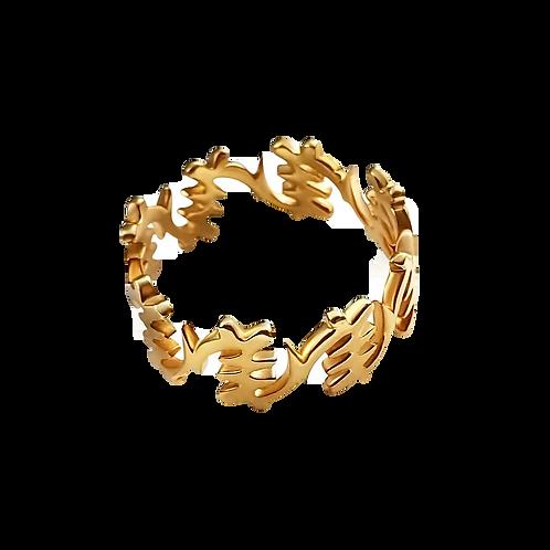 Fearless II Yellow Gold Geometric Ring