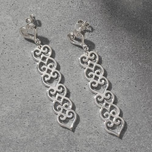 Cocoa 925 Sterling Silver Dangle Earrings
