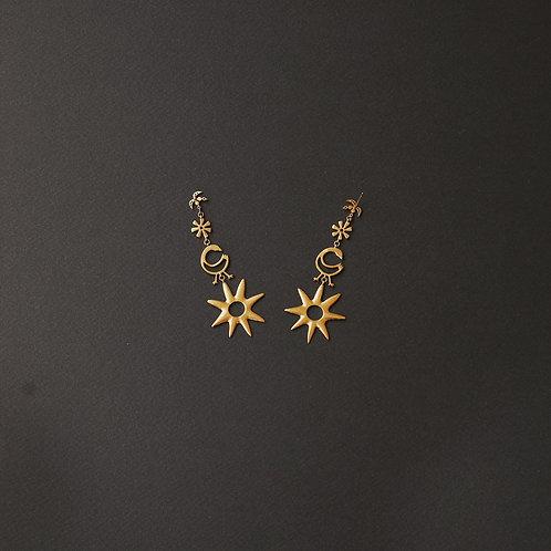SAHMANI Charm Dangle Earrings Gold