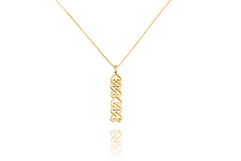 Cocoa Yellow Gold Amulet