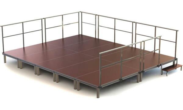 Bühne mieten 5x6 m oder 3x4 m ab
