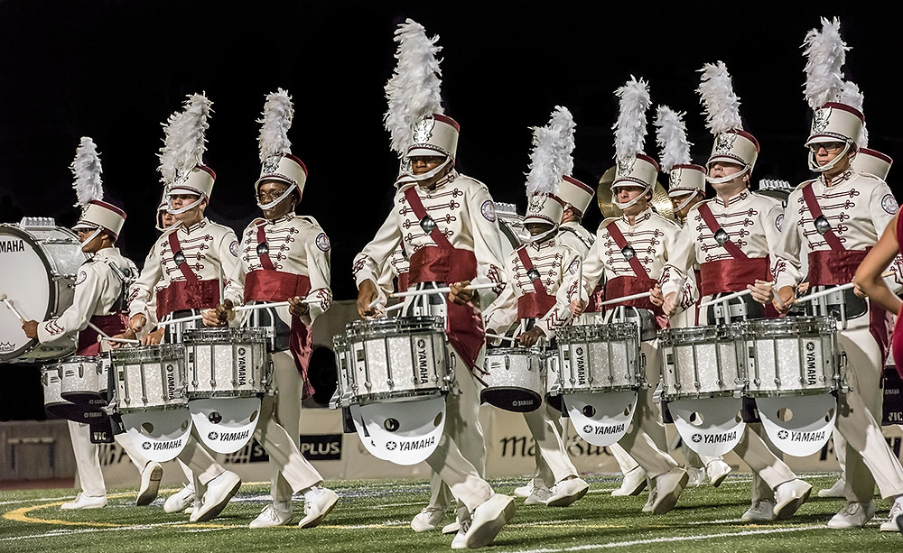 Cadets2 Battery Performs on Yamaha Percussion