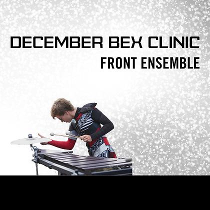 December Utah BEX Clinic - Front Ensemble
