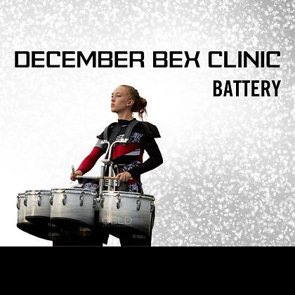 December Utah BEX Clinic - Battery