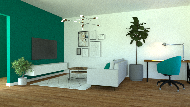 3D VISUALIZATION - LIVING ROOM
