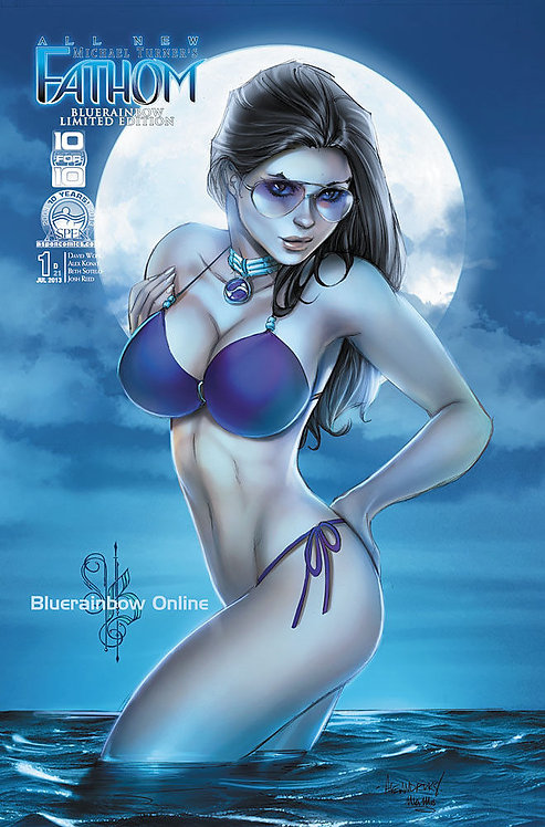 "Aspen All New Fathom #1 Bluerainbow ""Moonlight"" Exclusive Ltd 250"