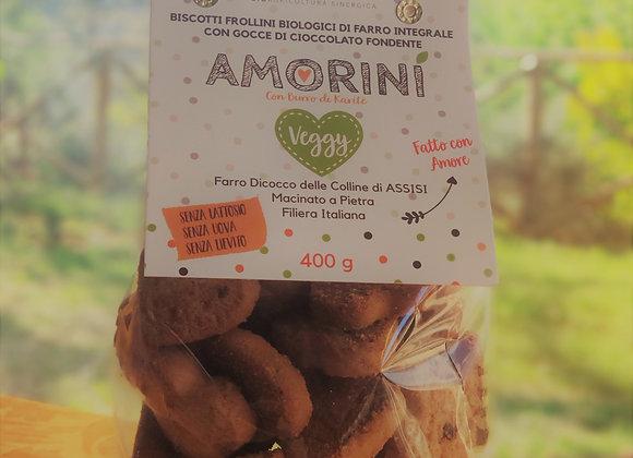 AMORINI - Frollini 100% VEGGY di Farro Integrale con Gocce di Cioccolato 400g