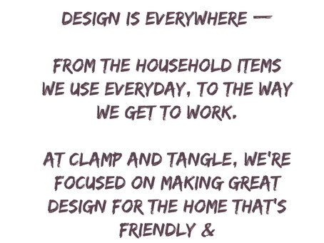 Clamp and tangle vision.