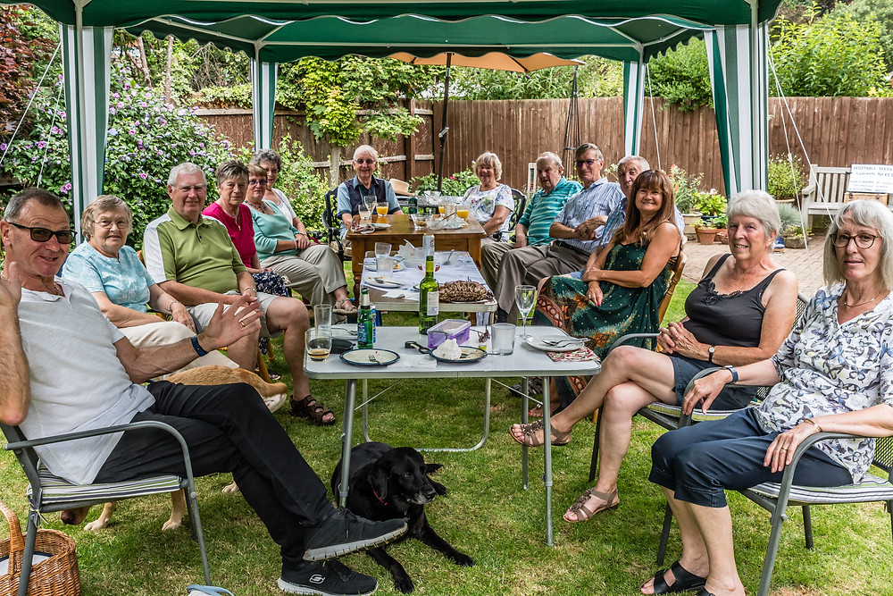 Despite recent biblical storms the weather on the day of the BBQ was sunny without humidity or lightening strike. A big thank you to all who came.
