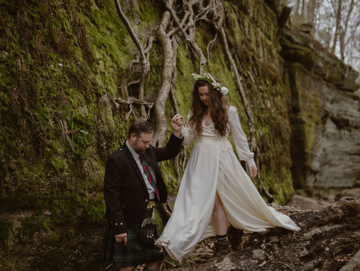How to Elope in Nelson Kennedy Ledges State Park, Ohio