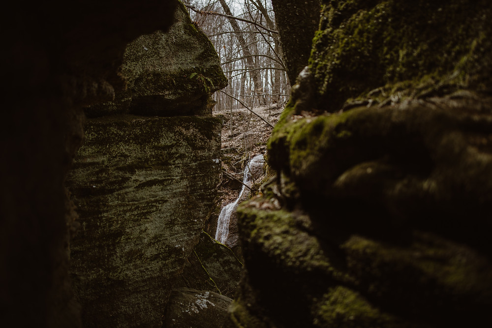 cascade falls nelson Kennedy ledges state park Ohio