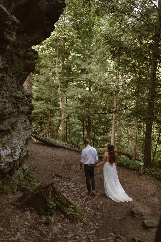 Cascade Falls Ohio elopement location