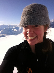 Shannon skiing Whistler Glacier
