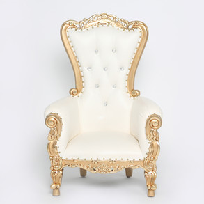 Gold Trim Childrens Throne