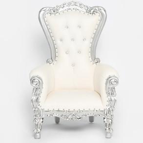Silver Trim Childrens Throne