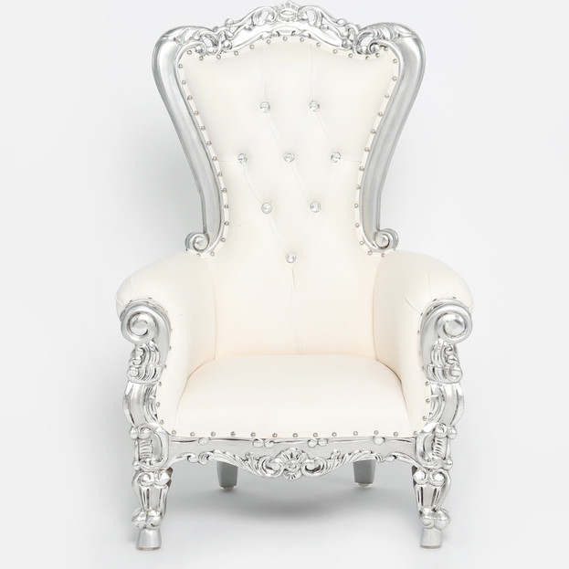 Silver Trim Childrens Throne