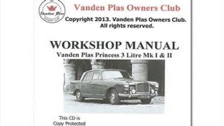 Vanden Plas Parts and Workshop Manual CDs