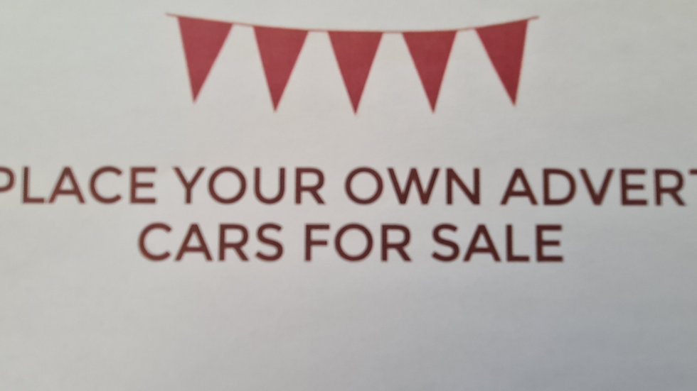 Cars for Sale - Place your own advert