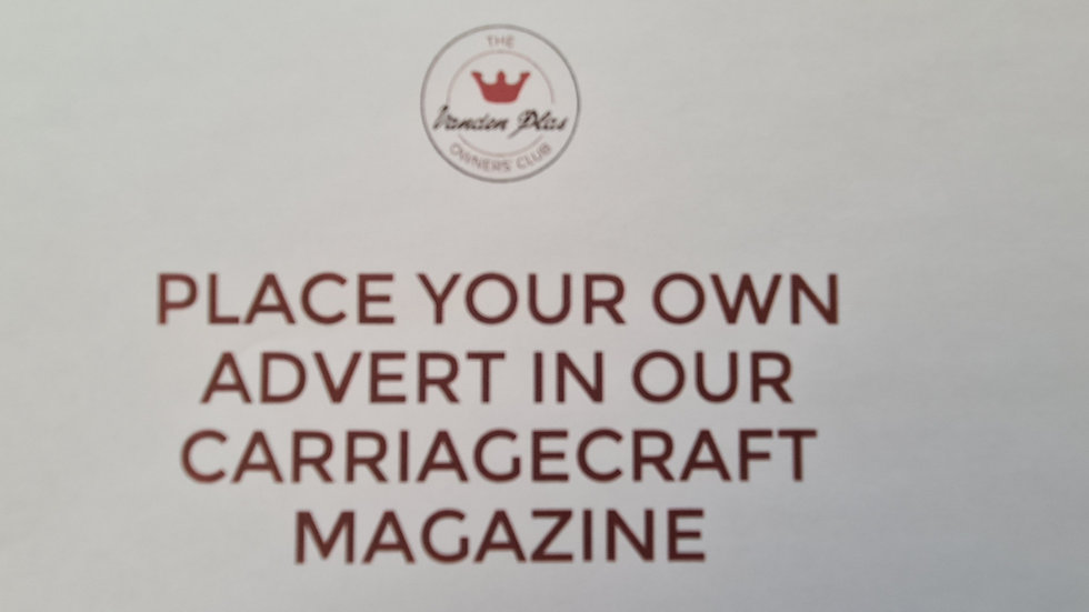 Carriagecraft - Place your own advert