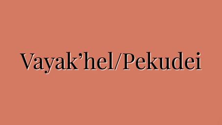 These are the words - Torah Portion Vayak'hel/Pekudei