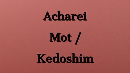 Duties of the High Priest  /Strange Temple Happenings - Torah Portion Acharei Mot / Kedoshim