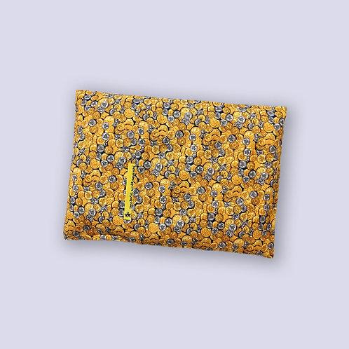 Traubenkernkissen mit Münzen