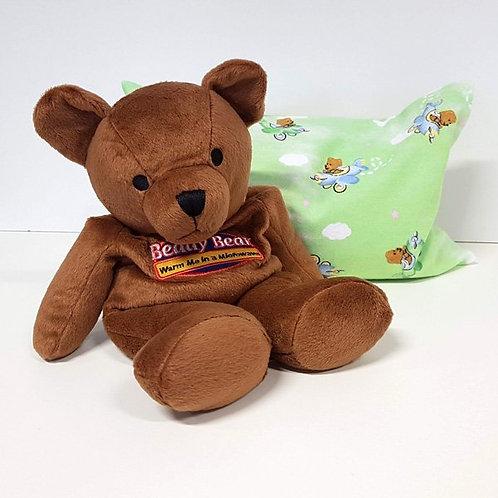 Warmies Beddy Bear mit grünem Hirse-/ Buchweizen-Kissen
