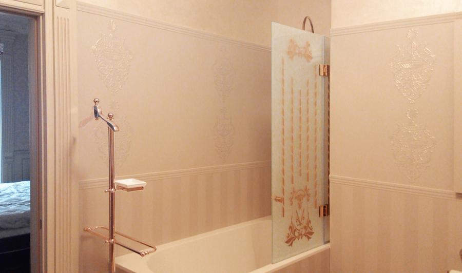 Шторка для ванной из двух створок