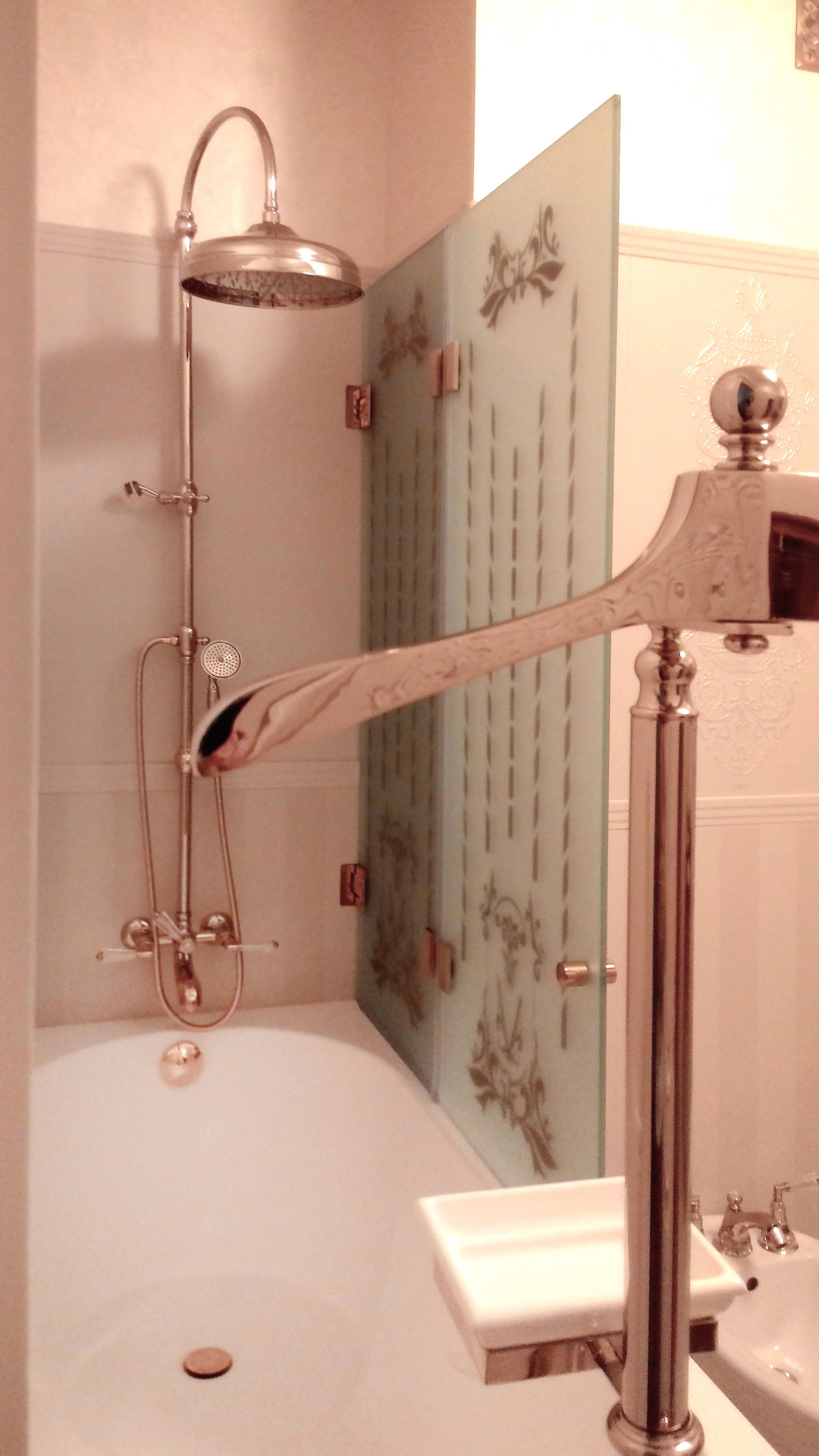 Шторка для ванной двустворчатая