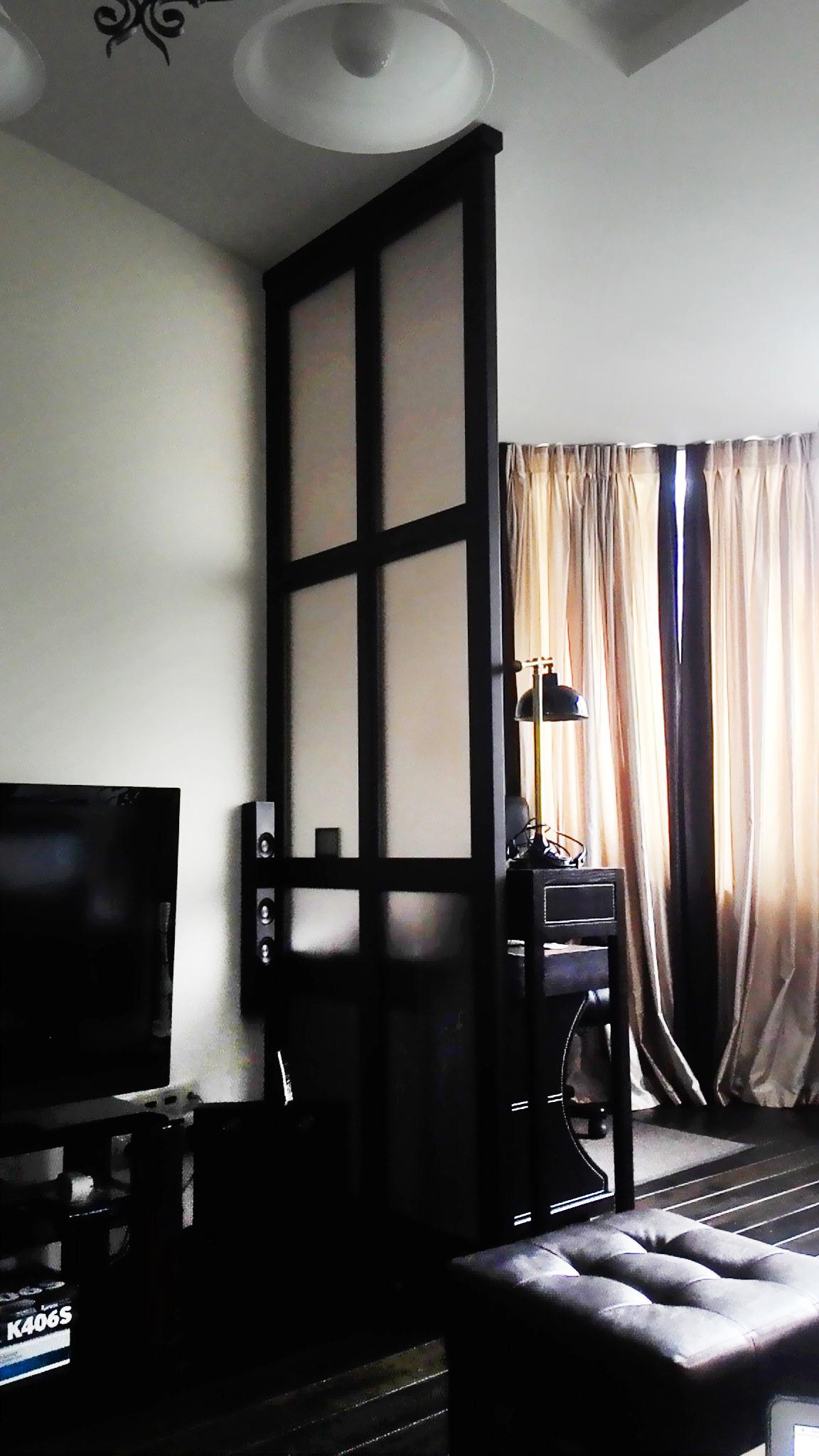 перегородка в гостинную стекло бронза