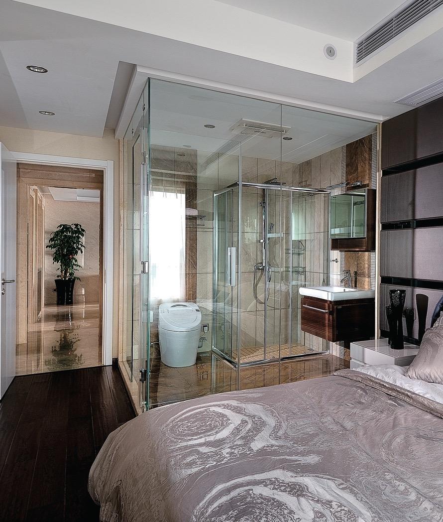 перегородка стеклянная в ванную