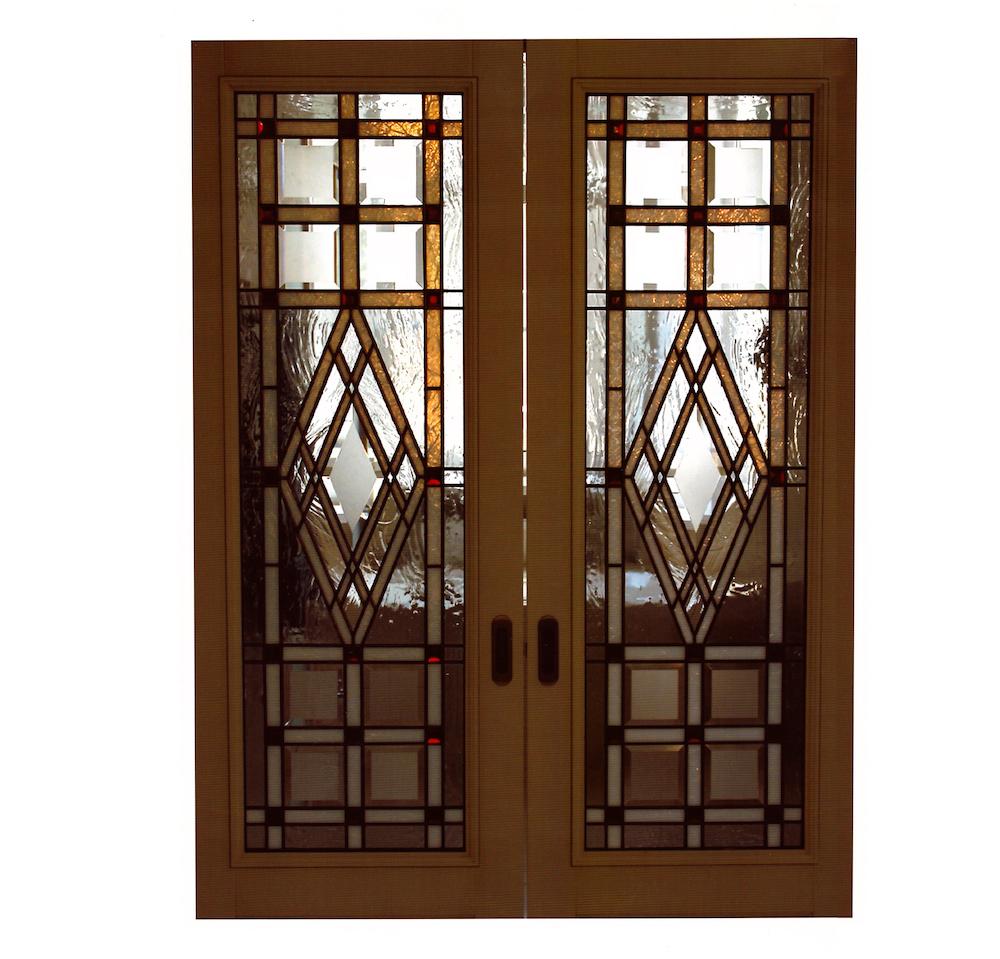 витраж Тиффани геометрия двери