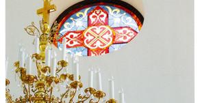 Витраж в православном храме