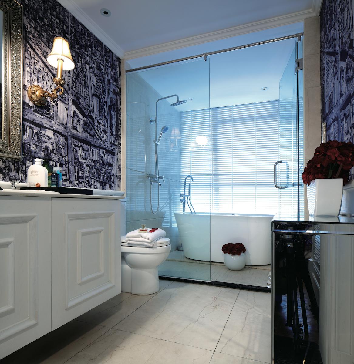 перегородка в ванной из стекла