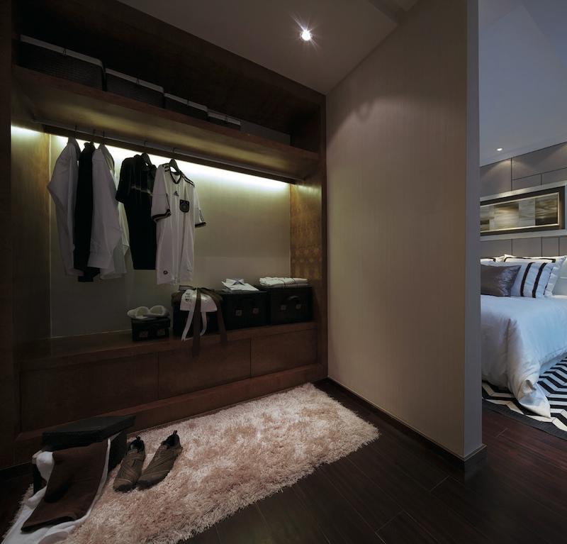 открытая гардеробная без фасада