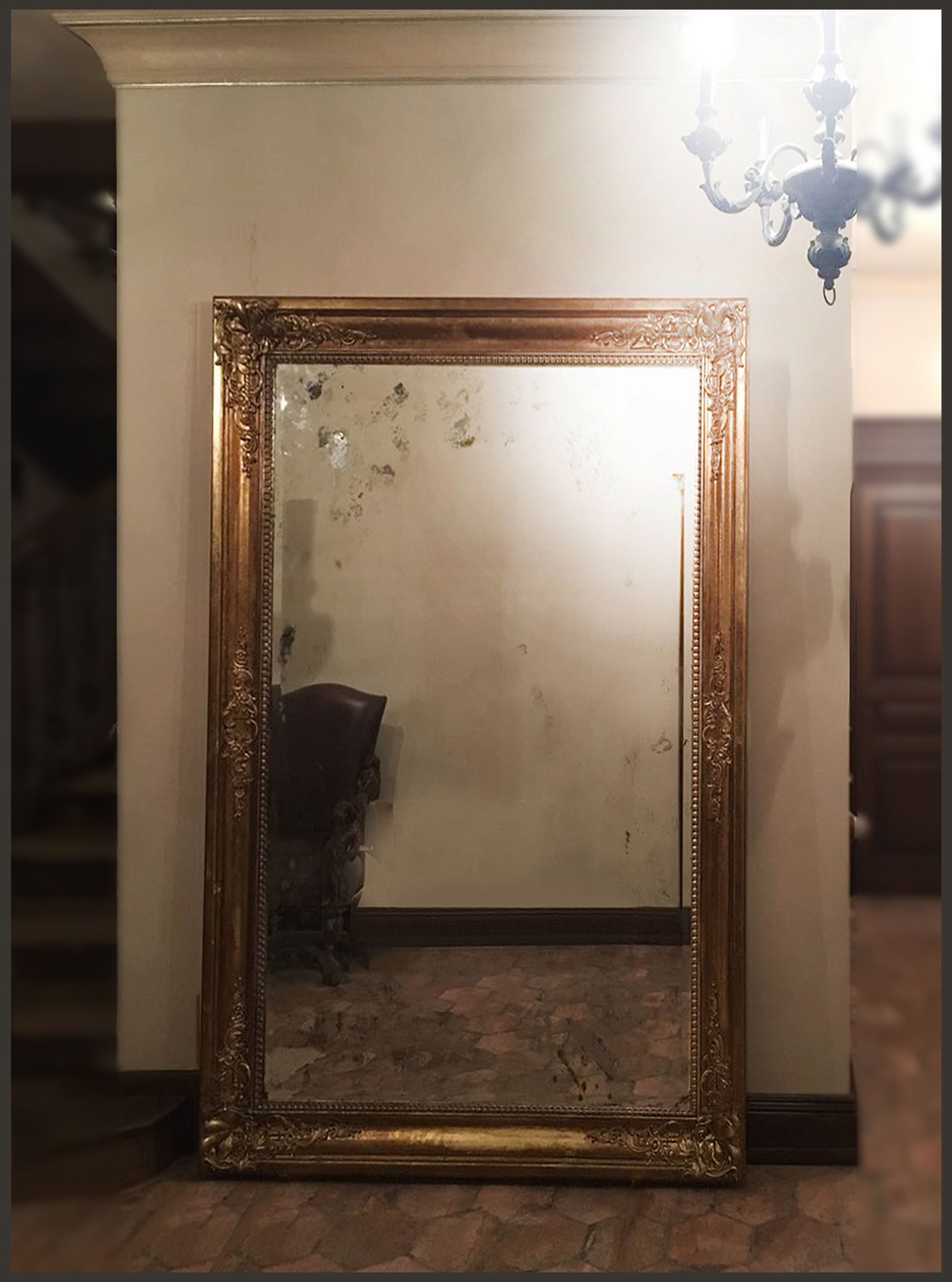 Состаренное зеркало в раме