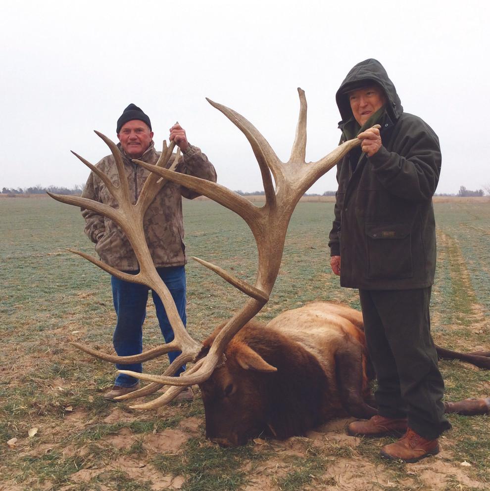 Huge Bull Elk - Kansas Trophy Whitetails