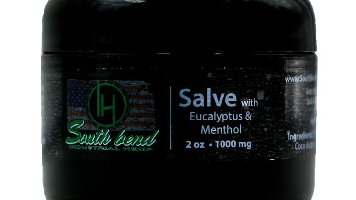 CBD Salve with Eucalyptus and Menthol (2 oz/1000 mg)