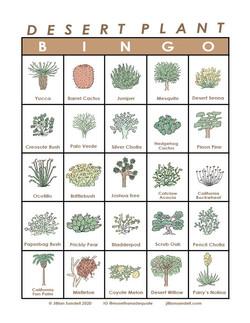 Desert Plant Bingo Card