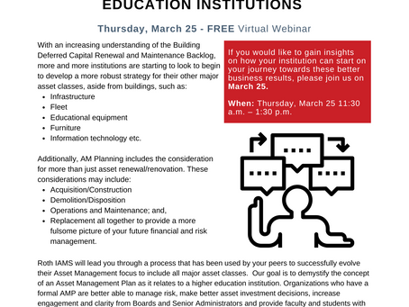 Asset Management Planning for Higher Education - Register Today!