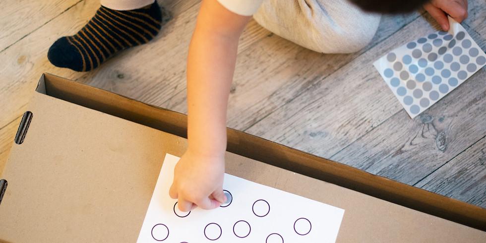 KOHAD TÄIS! Veebipõhine loovteraapia 1–3a väikelastele